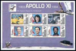 [78638] Grenada Grenadines 1994 Space Travel Apollo XI Astronauts Sheet MNH