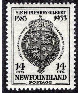 204 NSSC, Newfoundland, 14c, Superb/Gem, MLHOG, Sir Humphrey Gilbert, England'