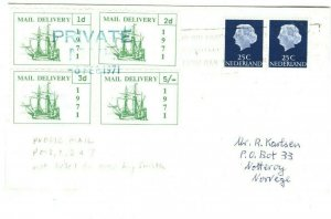 GB 1971 STRIKE POST NETHERLANDS Cover Not Listed PUBLIC MAIL Norway 43c.16