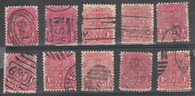 #98 New South Wales Used - 10 pcs.