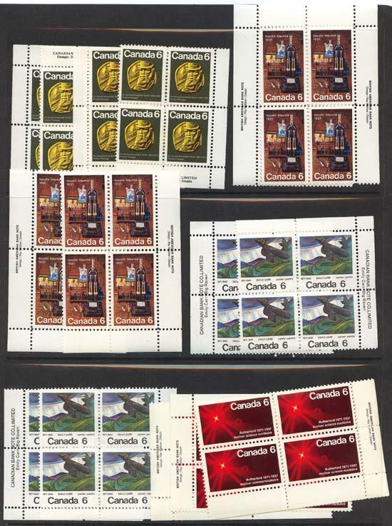 Canada - 1970-1971 Four Different Commemoratives in MS Imprint Blocks
