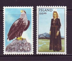 Iceland Sc 378-9 1965 Eagle Costume stamps NH