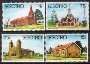Lesotho MNH 314-7 Churches Architecture 1980