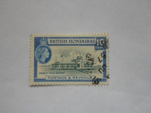 BRITISH HONDURAS STAMP USED NO HINGE # 1