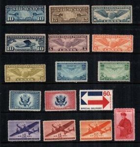 US  16  MNH air mail cat $ 75.00
