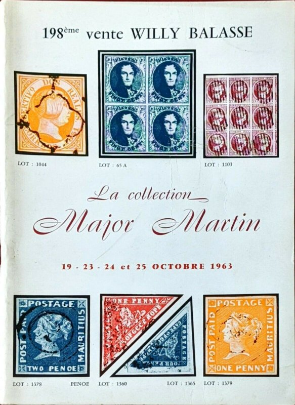 1963 Auction Catalogue La Collection MAJOR MARTIN - Willy Balasse