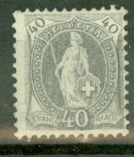 Switzerland 84a MNH (p. 11.5x11) CV $225