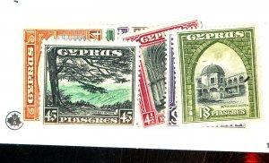 CYPRUS #125-135 MINT FVF OG VLH Cat $216