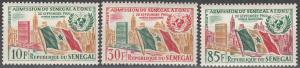 Senegal #207-9 MNH F-VF CV $3.25 (SU6043)
