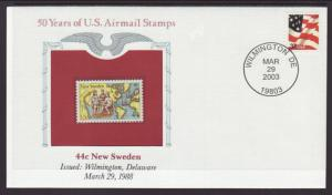 US New Sweden 50 Years US Airmail Stamps Cover BIN