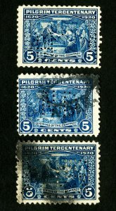 US Stamps # 550 F 3 various perf-ins