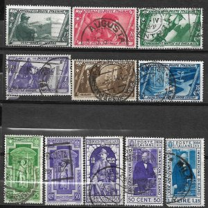 COLLECTION LOT OF # 836 ITALY 11 STAMPS 1932+ CV+$21