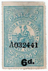 (I.B) London & North Western Railway : Parcel Stamp 6d