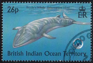 BIOT 1998 used Sc #204 26p Bryde's whale Int'l Year of the Ocean