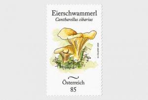 2020 Austria Chanterelle Mushroom   (Scott NA) MNH
