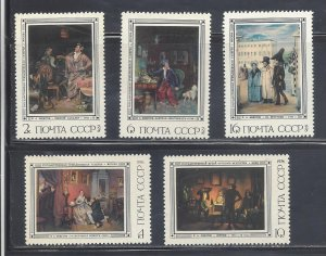 Russia MNH 4454-8 Paintings