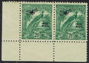 NEW GUINEA 1932 UNDATED BIRD AIRMAIL 21/2D MNH ** PAIR