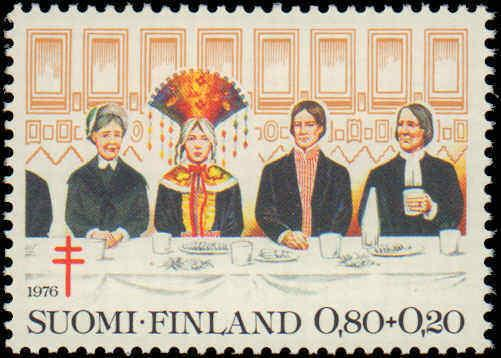 1976 Finland #B207-B209, Complete Set(3), Never Hinged