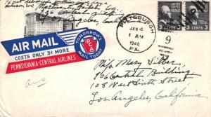 United States Pennsylvania Pittsburgh 1940 numeral duplex  3c Jefferson Prexi...