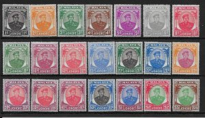 MALAYA JOHORE SG133/47 1949-55 DEFINITIVE SET MNH