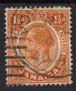 Jamaica  1912 used   1 1/2 d. King George V    #