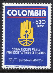 1070 - Colombia 1994 - National Disaster Prevention System - MNH Set
