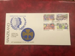 ICOLLECTZONE SWAZILAND 485-488 First Day Cover 1985 Girl Guide  (D200)