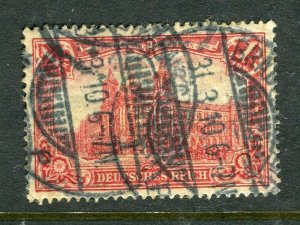 GERMANY; 1906-11 early Deutsches Reich high value 1M. used fair Postmark