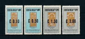 [104391] Costa Rica 1983 Surcharge new values Francisco de Asis  MNH