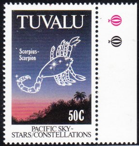 Tuvalu 1992 MNH Sc #587 50c Scorpio - Pacific Constellations