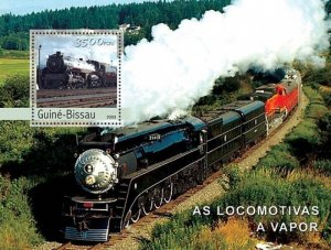 Guinea-Bissau MNH S/S Vapor Locomotives 2003