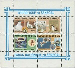 Senegal 1981 Sc 545 Bird Cormorant Tern Tortoise CV $22.50