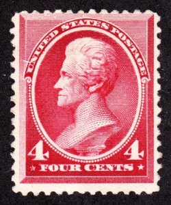 US 215 4c Jackson Unused VF RG SCV SCV $70
