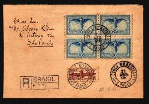 Brazil 1934 National Air Congress Cover / Registered (II) - Z19381
