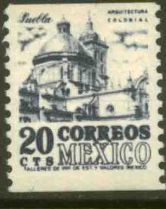 MEXICO 1003, 20c 1950 Def 4th Issue Fluorescent uncoated Coil single MINT NH VF.