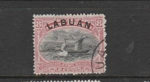 Labuan 1894/6 8c FU