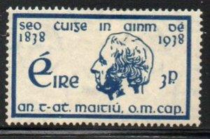 Ireland Sc 102 1938 3d Father Theobald Mathew stamp mint
