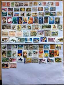 Australia 100 stamps - Lot D