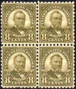 589 Mint,OG,NH... Block of 4... SCV $230.00