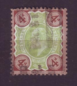 J19692 Jlstamps 1902-11 great britain used #133 king