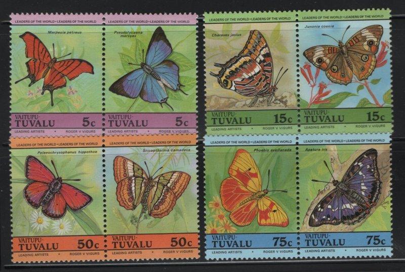TUVALU, 39-42, MNH, 1985, BUTTERFLIES