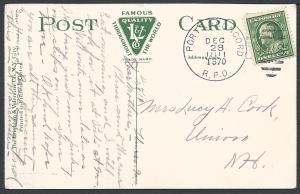 Ports. & Concord R.P.O. Dec 28 1911 T370 (Towle#22-E-2),