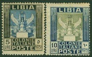EDW1949SELL : LIBYA 1921 Scott #30-31 Very Fine, Mint Original Gum. Catalog $392