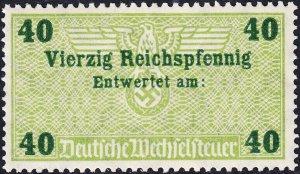 Stamp Germany Revenue WW2 3rd Reich Era Nazi Bill Exchange 040P MNH