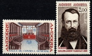 Andorra (Fr) #258-9 MNH CV $2.80 (X9365)