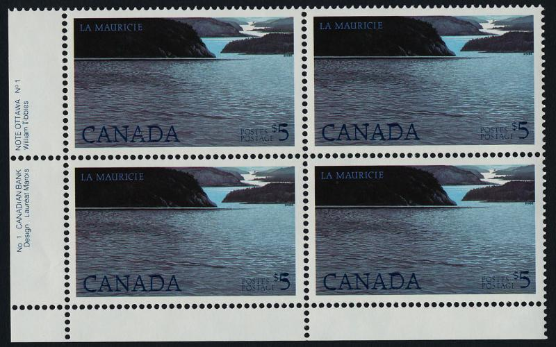 Canada 1084 BL Plate Block MNH La Mauricie National Park