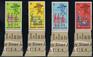 Maldive Islands 243-246 MNH - Scouting