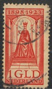 NETHERLANDS 1923 1g RED QUEEN WILHELMINA