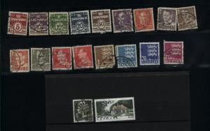 Denmark  19 different used PD