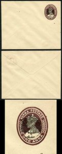 The Japanese Occ of Burma 1a Card with Peacock Overprint (flap stuck down)